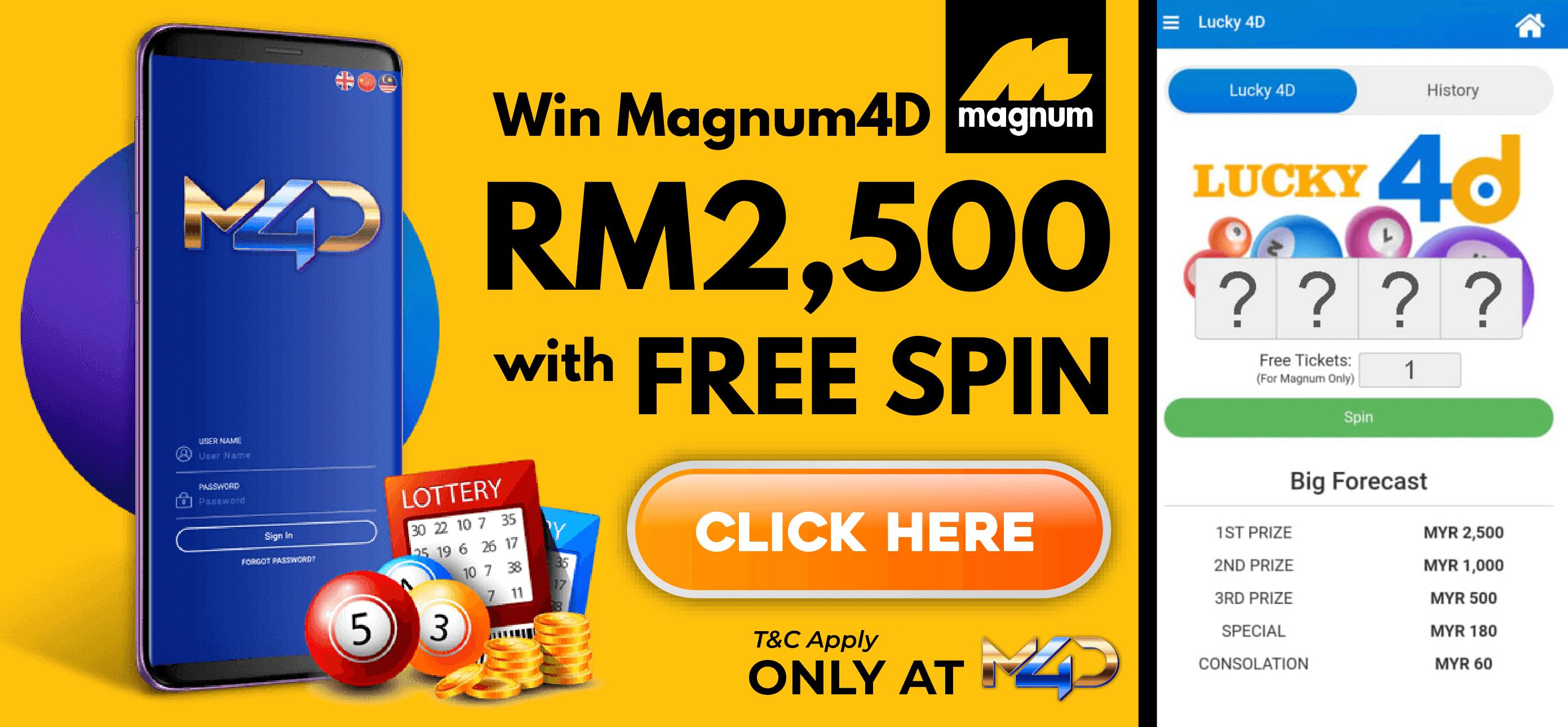 Magnum 4d free credit